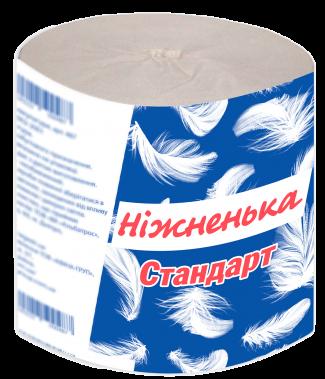 """Туалетная бумага Стандарт серая ТМ """"Ніжненька"""""""