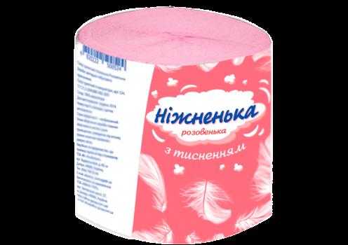 Туалетная бумага розовая с тиснением ТМ