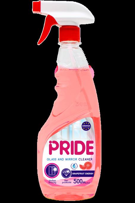 Средство для мытья стекол и зеркал с нашатырным спиртом PRIDE Grapefruit Energy с курком 500 мл